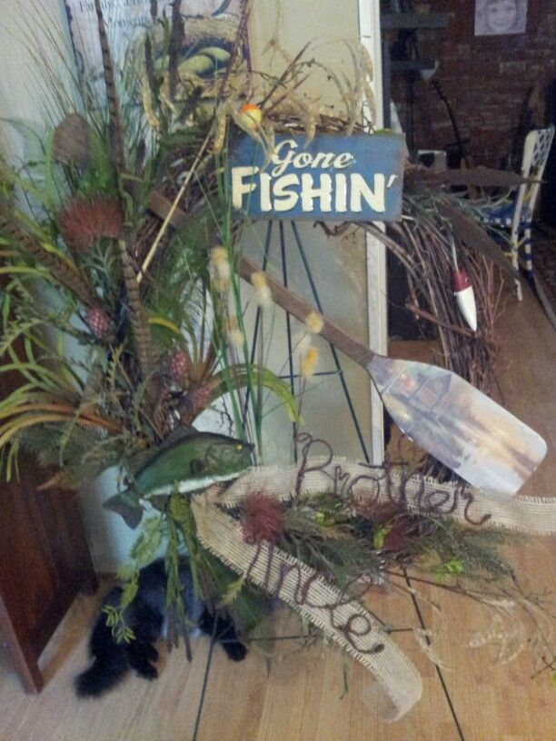 Gone Fishing Wreath Look What I Made Funeral Flowers Arrangements
