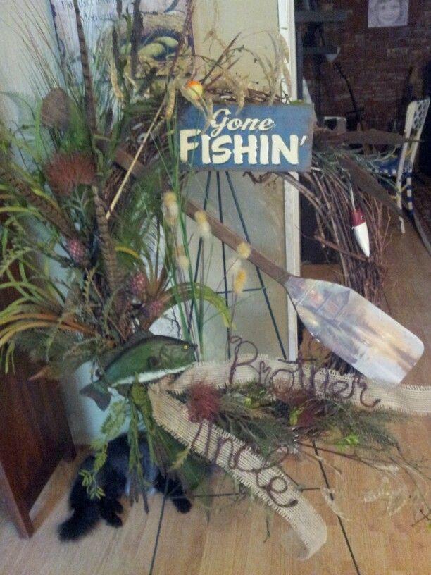 Gone Fishing Wreath Casket Sprays Pinterest Gone
