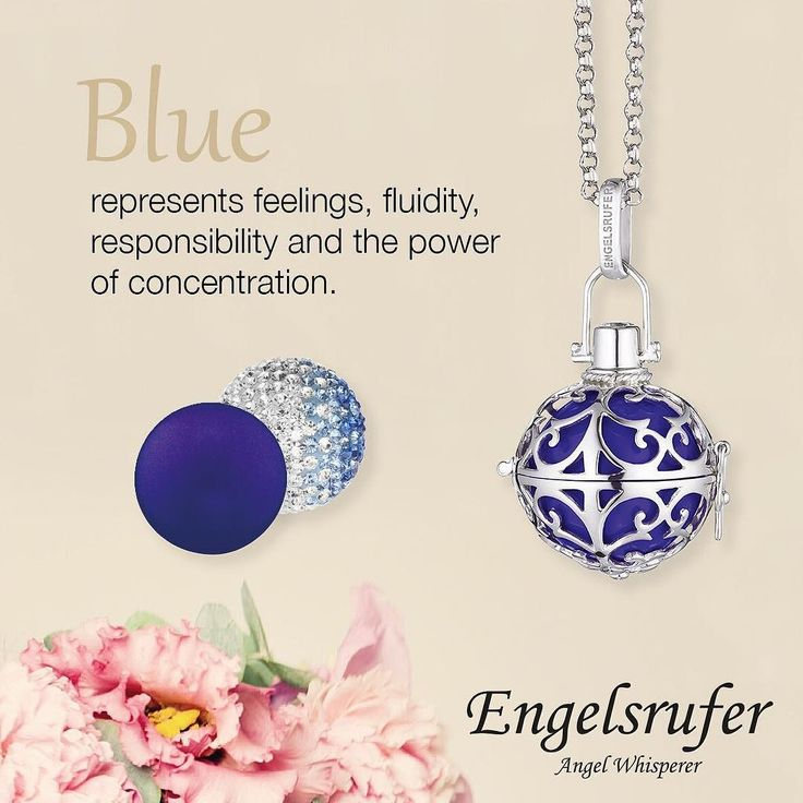 From #engelsrufer_uk_ireland - Blue represents feelings fluidity responsibilty and the power of concentration. #Engelsrufer #Angel #Whisperer