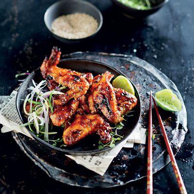Sibas Sticky Wings.  Taste Mag   Sticky chicken wings @ http://taste.co.za/recipes/sticky-chicken-wings-2/