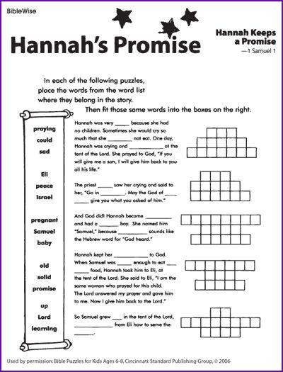 Hannah Keeps Her Promise To God