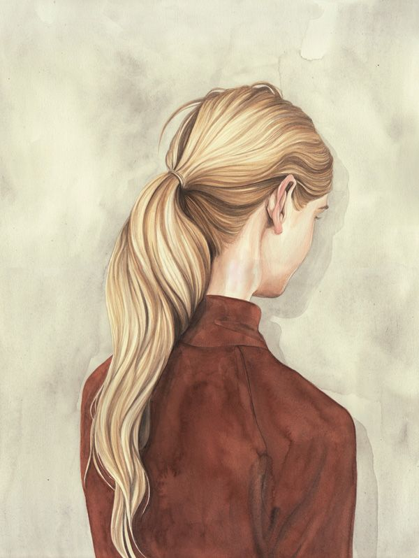 henrietta harris I have just discovered this artist and i like the way the hair doesn't actually have much detail but the highlights and shadows in the hair give the hair dimension.