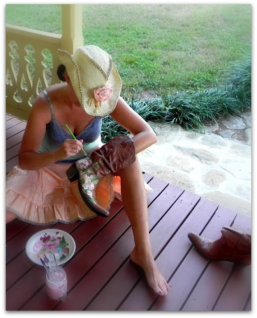 Gypsy Brocante:How to paint your boots tutorial