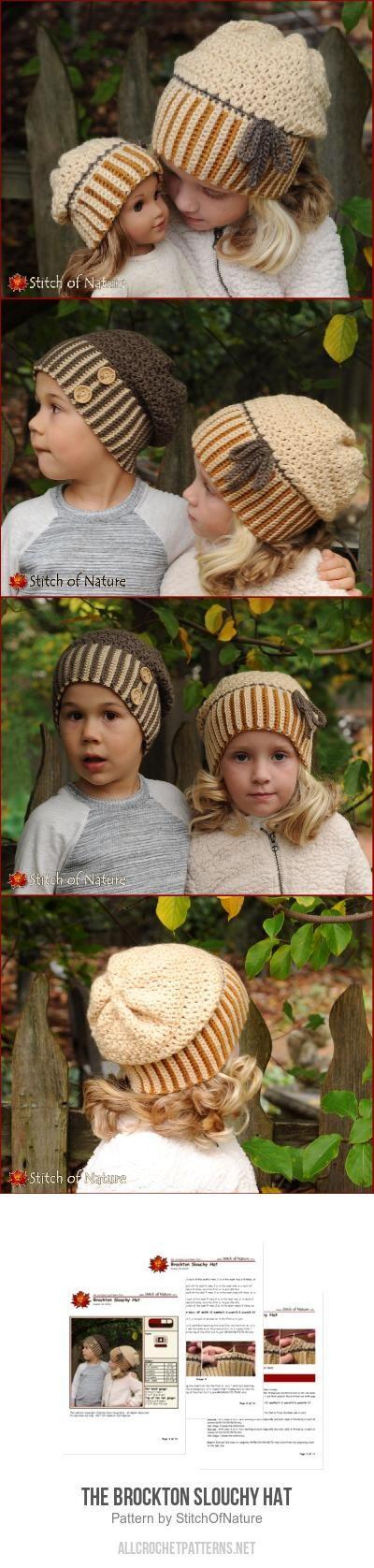 The Brockton Slouchy Hat crochet pattern