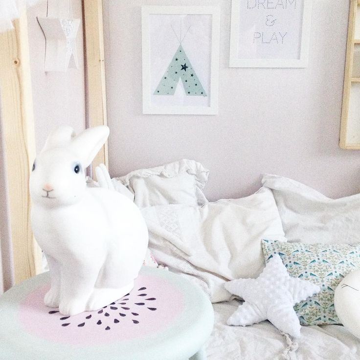 Barnrum, kaninlampa / kids room, rabbit lamp @livsglitter