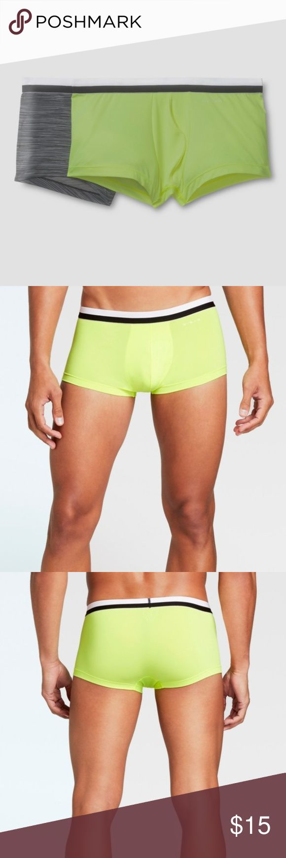 NEW Evolve by 2(X)ist Men's Micro Sliq Trunk [C7] Evolve by 2(X)ist Men's Micro Sliq Trunk - Neon/Black  The Evolve by 2(X)IST Sliq Trunks add a twist to a timeless style in Neon and Spacer Print. The ultra-low rise trunks with shorter, squared-off legs, minimal seams, and a boosting Contour Pouch are perfect to take from day to night.  available in size S | M new without tags color: neon lime punch & spacer black  - Low rise - Elastic waistband - Contour Pouch for added support - Seamless…