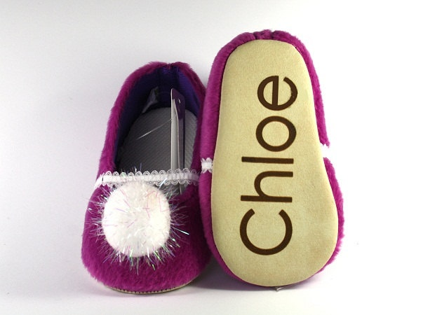 Personalised handmade soft sole baby shoes perfect for gift and keepsake - Winter series. $25.00, via Etsy.