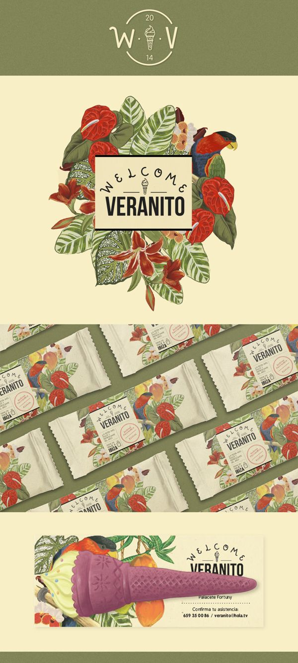Welcome Veranito by Andrea Ferrandis, via Behance
