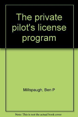 The private pilot's license program.   Read the rest of this entry » http://getyourpilotslicense.mytrafficbox.com/get-your-pilots-license/the-private-pilot-s-license-program/