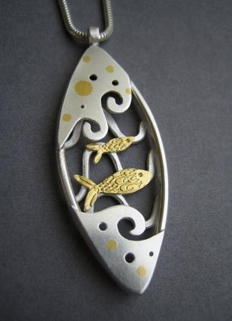 jewelry by Lucy Palmer (silver and 24ct gold foil)