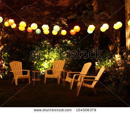 Shutterstock Stock Photo : Garden Party. Outdoor Patio ...