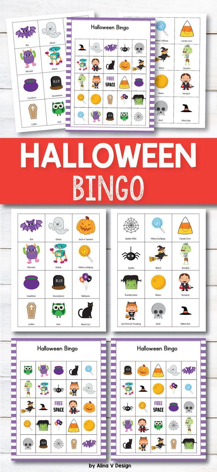 Halloween Bingo Game Halloween Activities for
