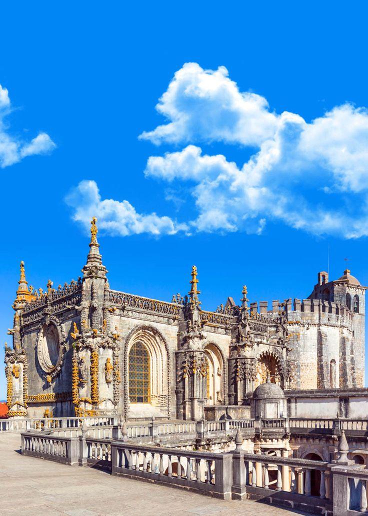 Caballeros del Templario (Conventos de Cristo) Detalle del castillo, Tomar, Portugal