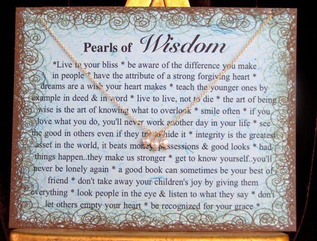 Little Pearls Of Wisdom Quotes. QuotesGram