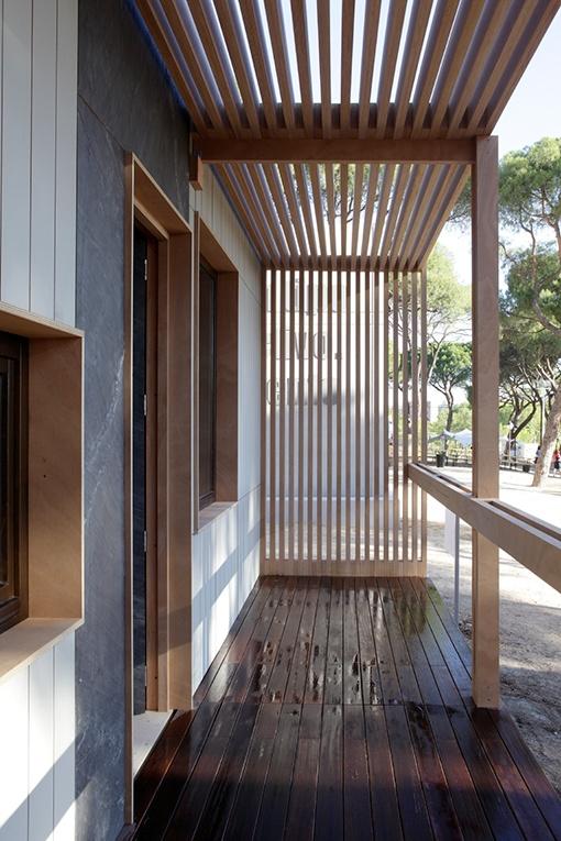 Suelo ecológico para exterior, de madera de eucalipto