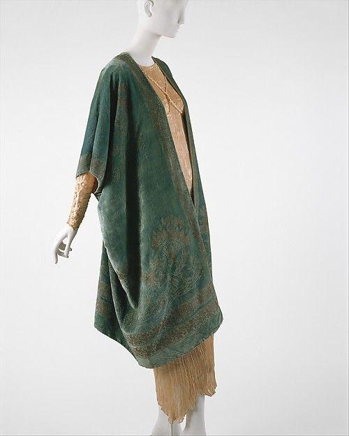 """Coat:"" - Design House: Fortuny (Italian, founded 1906) Designer: Mariano Fortuny (Spanish, Granada 1871–1949 Venice). Date: 1920s. Culture: Italian. Medium: silk."