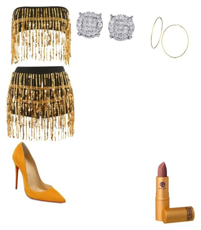 """""""Untitled #39"""" by jade2006 on Polyvore featuring Jaded, Christian Louboutin, GUESS and Lipstick Queen"""