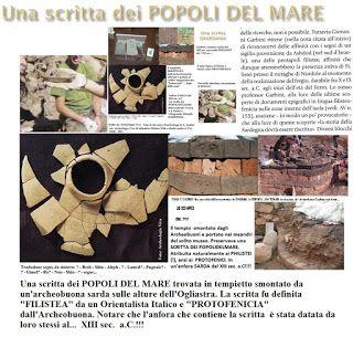 Shardana i Popoli del Mare (Leonardo Melis): #POPOLIDELMARE una scritta in Ogliastra