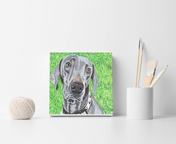 Dog custom portraits Commission pet painting Dog wall art