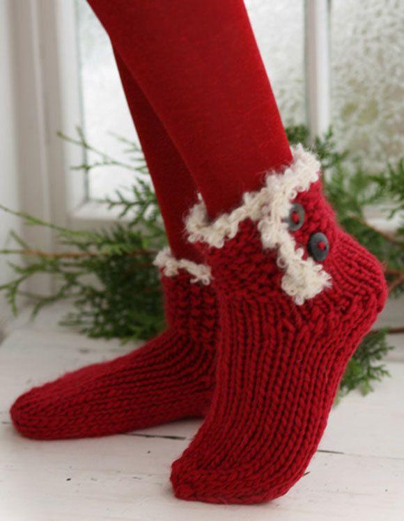 knit socks Wool socks. Xmas socks. Christmas socks. knitted socks. gift to a woman. Women's socks. Santa's Socks by VaniasCreations on Etsy