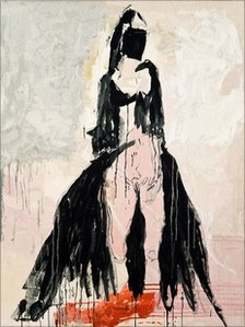 Tracey Emin Black Cat tapestry- I love how she was inspired by Poe here.
