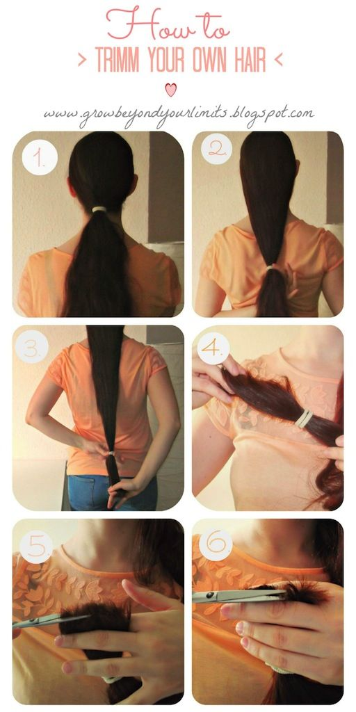 Tutorial How To Trim Your Own Hair Money Saver And Avoid Hair