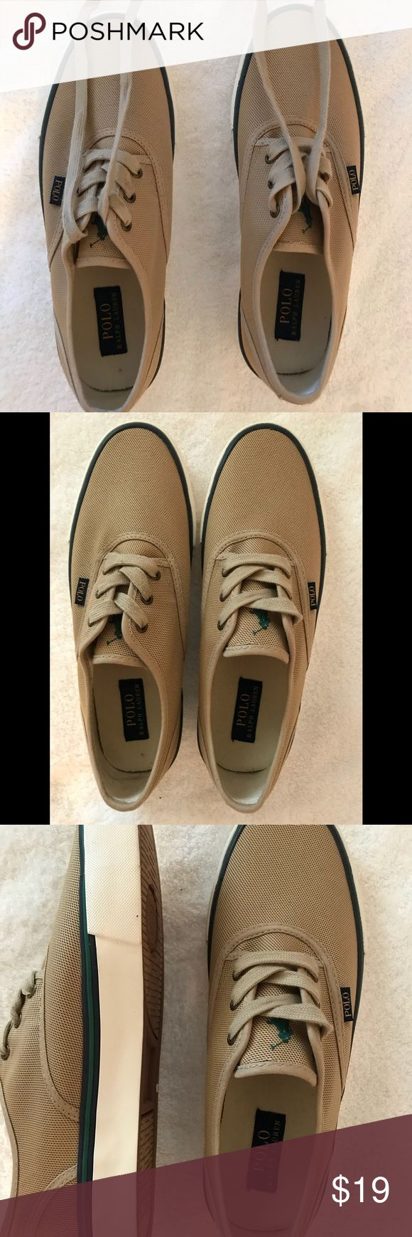 Polo Ralph Lauren men shoes tan size11D In good condition never been worn no flaws Polo by Ralph Lauren Shoes