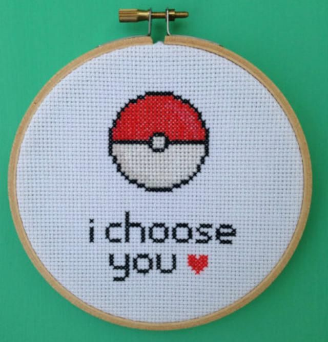 Is the love of your life a total Pokemon game freak? Want to show them how much you love them? Why not stitch up this geeky Pokemon love cross stitch pattern.