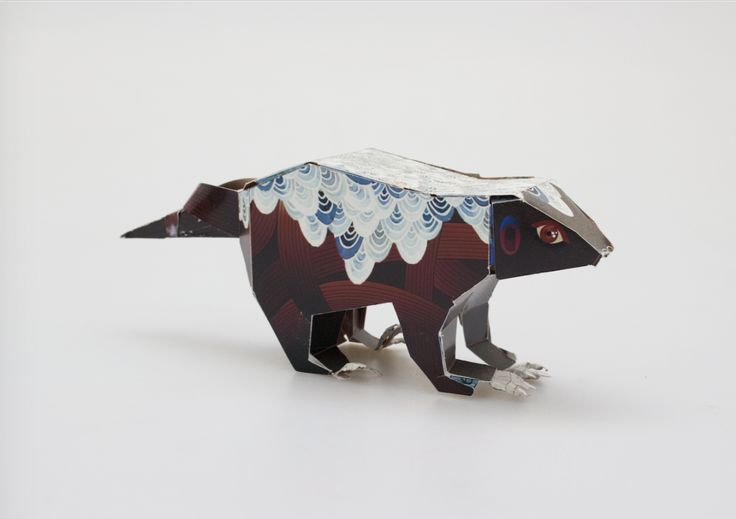 2015 Paper toy for Johannesburg zoo. An educational mini-poster that can be cut and pasted into a paper toy. This paper toy is of a honey badger.