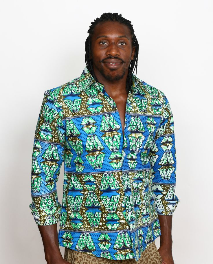 Do you like this? Check it out here! http://shop.modafricana.com/products/wax-print-long-sleeve-shirts-2