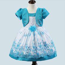 1 pcs vende 2017 Coreano moda Falso 2 peça de bebê meninas dress vestido da menina de flor do bebê roupa dos miúdos do bebê batismo dress livre grátis(China (Mainland))