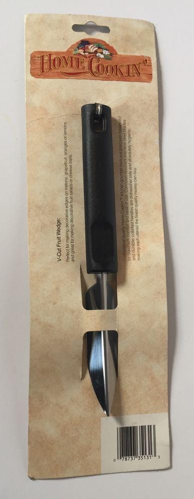 V Cut Fruit Wedge Slicer Stainless Steel Blade Tool Food Art Home Cookin | eBay