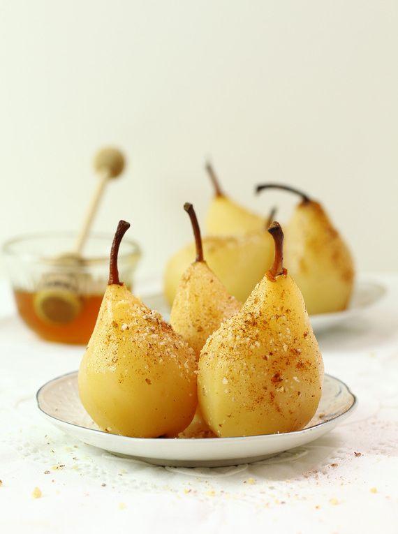 Gruszkowy deser na ciepło #słodkości #smakołyk #deser #przekąska #zdrowe #przepisy #energia #gruszki #kardamon #orzechy #POLOmarket
