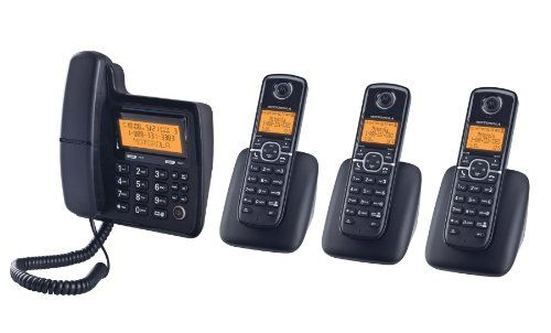 Motorola DECT 6.0 Corded Base Phone with Cordless Handset, Digital Answering System and Eco-Mode L704CM  //Price: $ & FREE Shipping //    #office #officelife #officeview #officeworks #myoffice #officegirl #officetime #officework