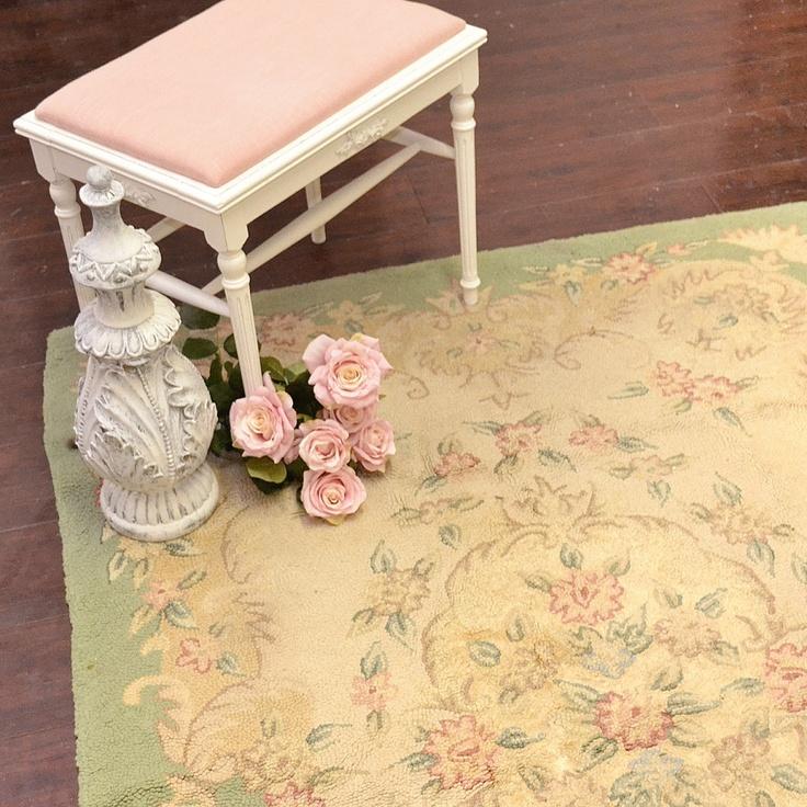 Vintage Home Rug: Vintage Sage Pink Cream Rug