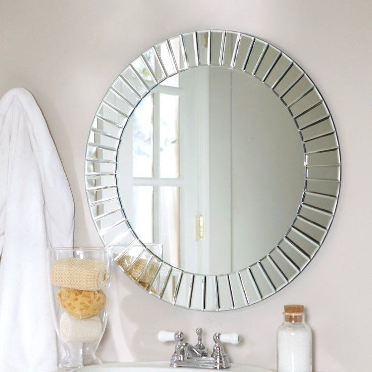 Bring A Touch Of Brilliance To Your Home With This Décor Wonderland Fortune  Modern Frameless Beveled Wall Mirror   Diam. A Beveled.