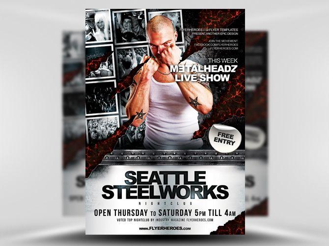 Steelworks Free Flyer Template https://noobworx.com/store/steelworks-free-flyer-template/?utm_campaign=coschedule&utm_source=pinterest&utm_medium=NoobWorx&utm_content=Steelworks%20Free%20Flyer%20Template #free #flyer #template
