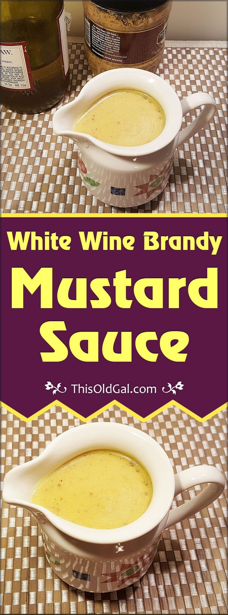 White Wine Brandy Mustard Sauce is a creamy and rich sauce that can turn a bland piece of meat or fish into a full bodied, luxurious meal. via @thisoldgalcooks