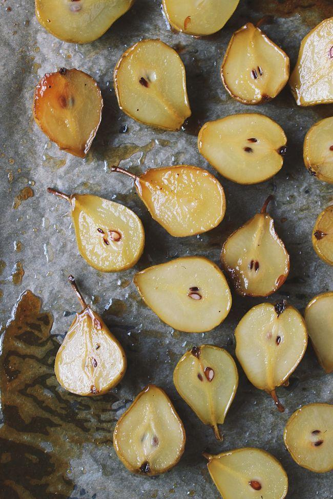 Maple Roasted Seckel Pears| @withfoodandlove