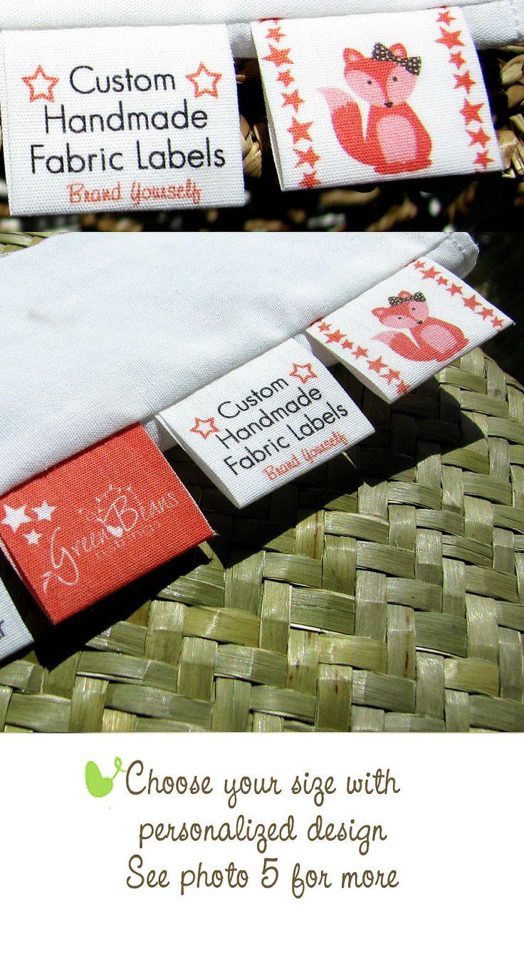 Custom Labels Cotton Fabric Tags for Branding. $18.00, via Etsy.