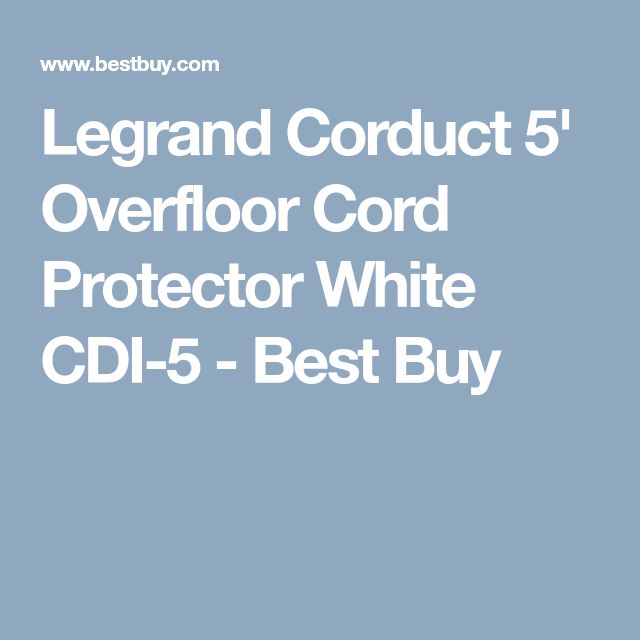 Legrand Corduct 5' Overfloor Cord Protector White CDI-5 - Best Buy
