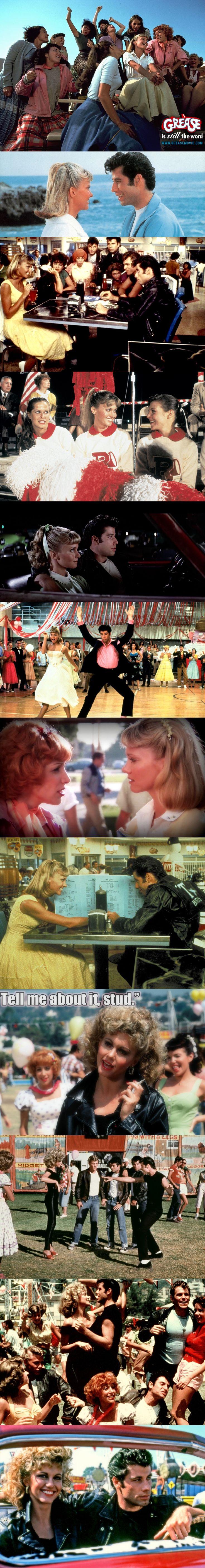 """Olivia Newton John and John Travolta in """"Grease"""""""