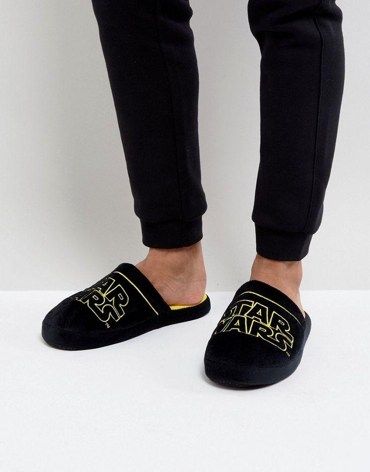 Fizz Star Wars Logo Slippers - Black