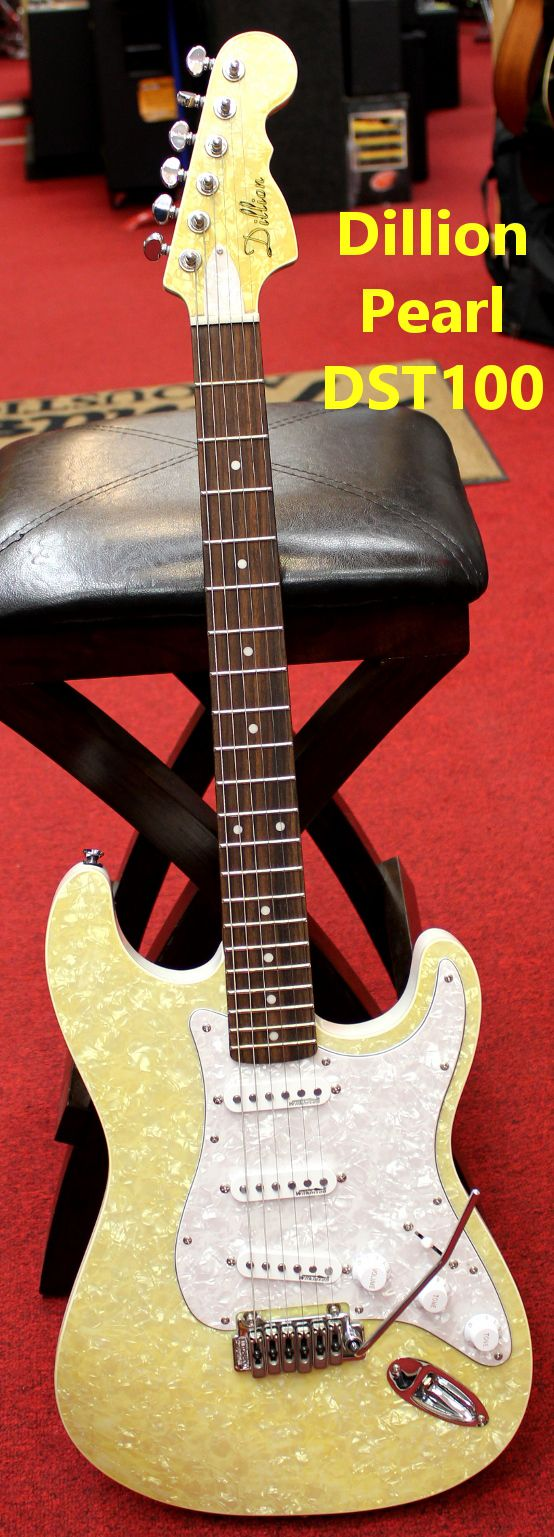 Dillion DPS-100 TA Champagne Pearl Strat Style Electric Guitar For Sale in Watertown, NY
