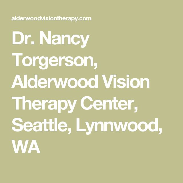 Dr. Nancy Torgerson, Alderwood Vision Therapy Center, Seattle, Lynnwood, WA