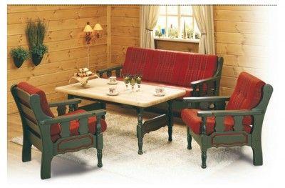 Furulux salong sofa couch kvande nordvik traditional norwegian cabin lodge furniture pine red black www.helsetmobler.no
