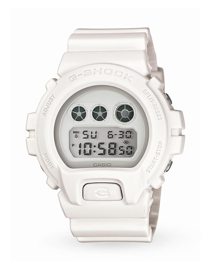 Just bought this beauty! #gshock matte white.: All White, Casio G Shock, Wrist Watches, Casio Gshock, Casio Dw6900Ww7Er, Whiteout Dw6900Ww 7, Dw6900Ww 7 White, Matte White, Digital Watches