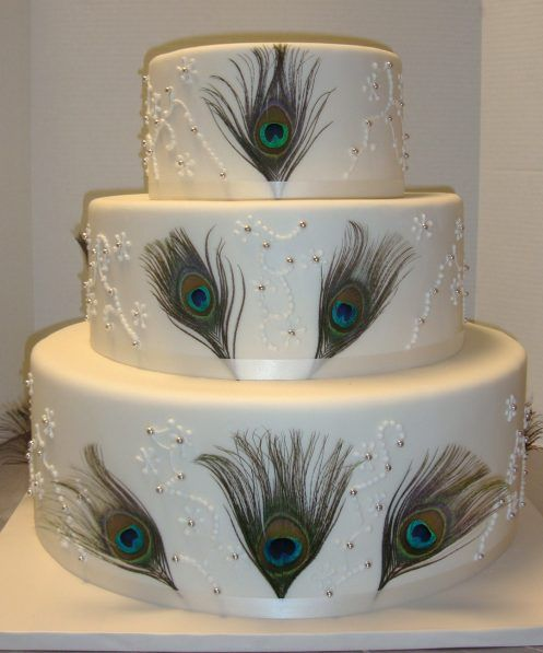 Peacock Feather Wedding Cake: 55 Best Weddings . Peacock Style Images On Pinterest