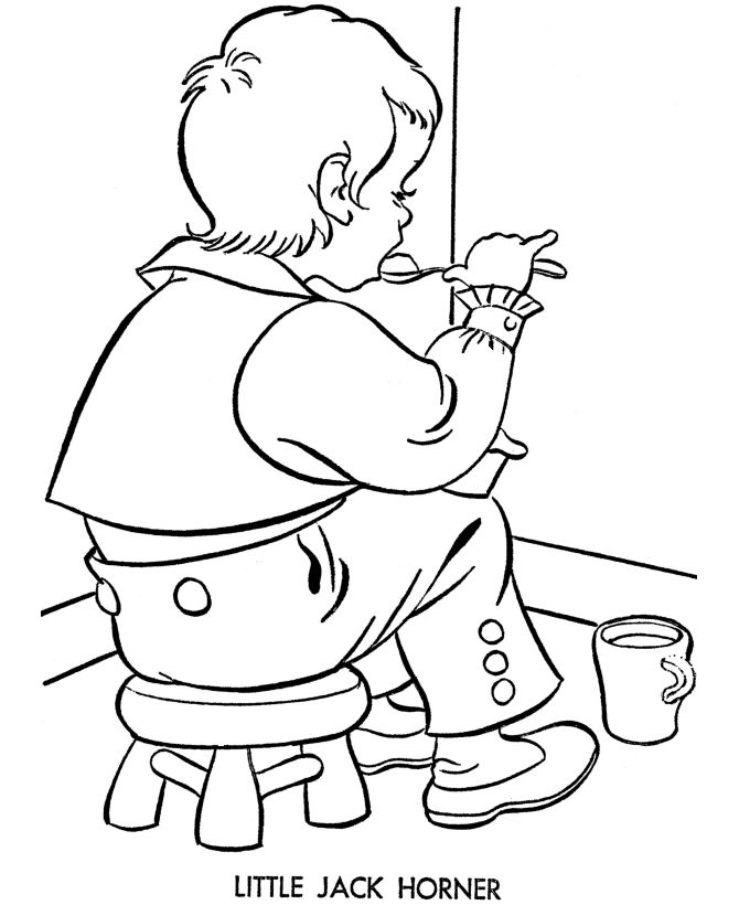 nursery rhyme story character coloring page