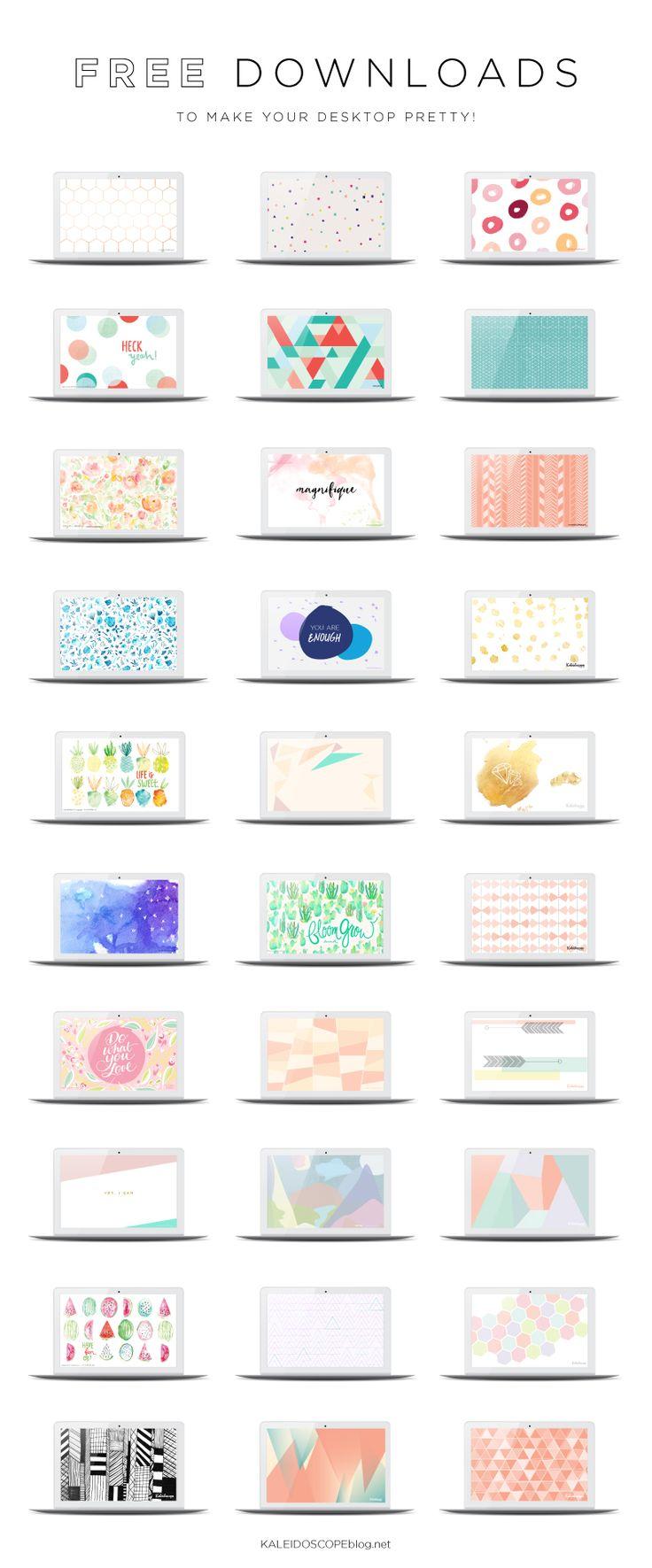 Loads of free wallpaper designs to dress up your computer's desktop from kaleidoscopeblog.net